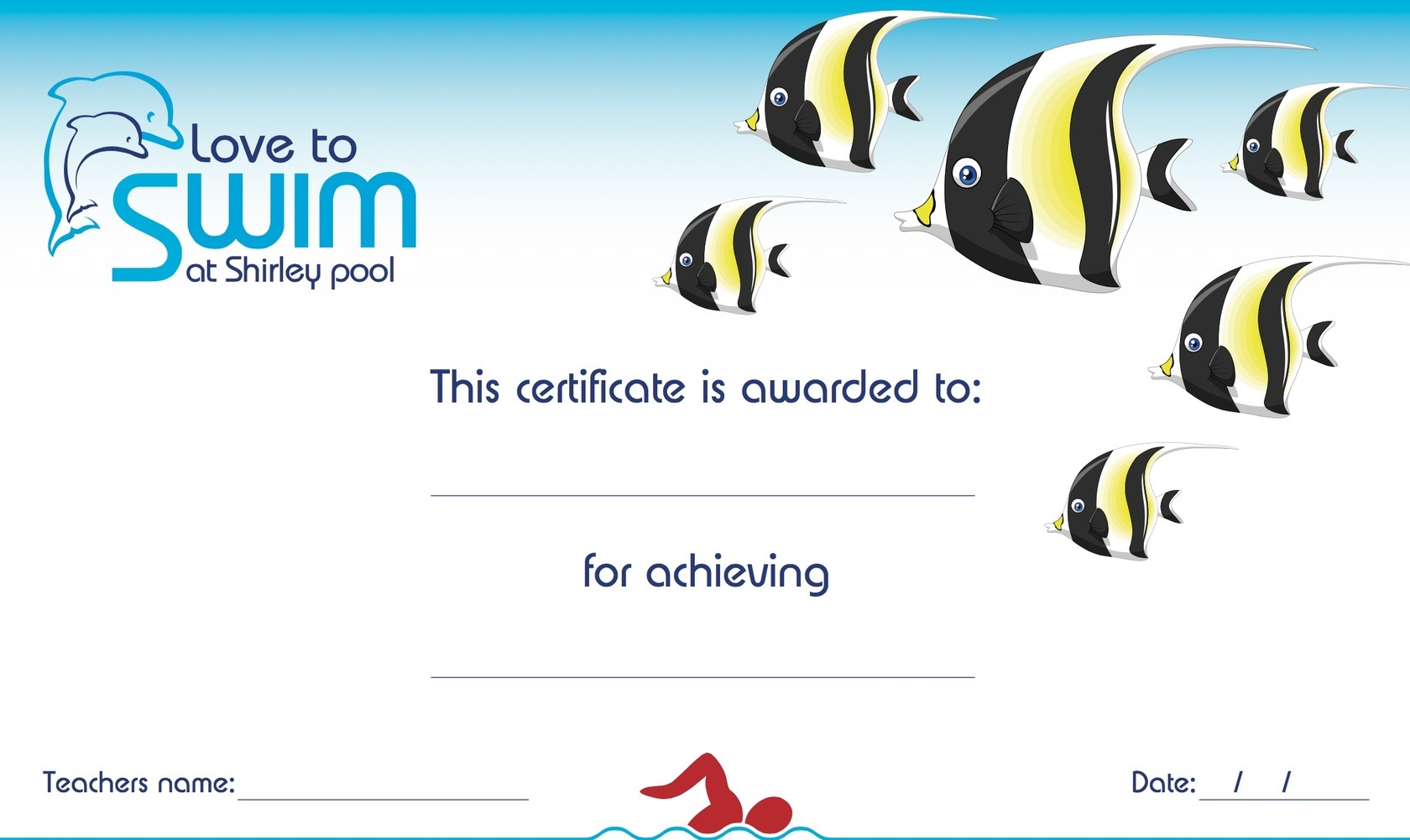 Certificate pic shirley swimming pool - Shirley swimming pool southampton ...